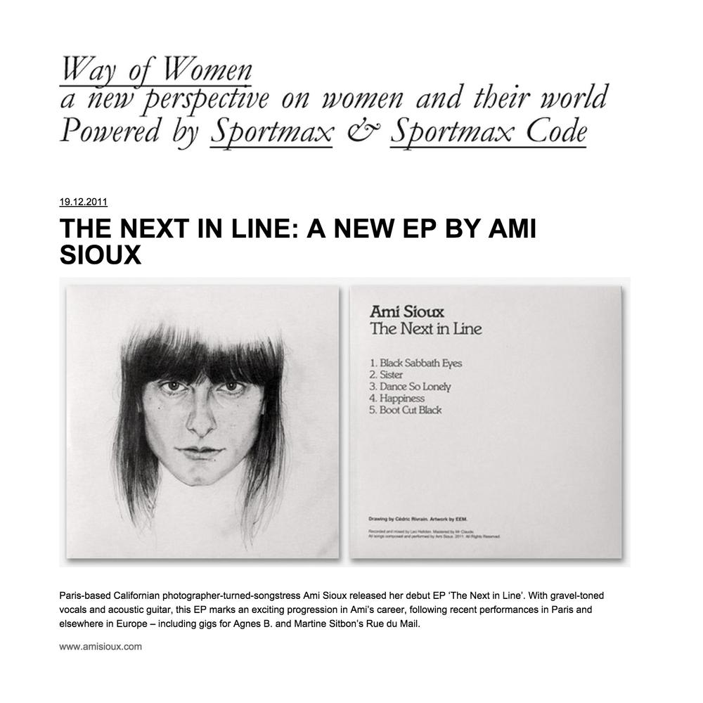 Way of Women / December 2011