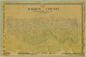 Click here for a zoomable map of Trammel's Trace in Marion County from the Texas General Land Office.