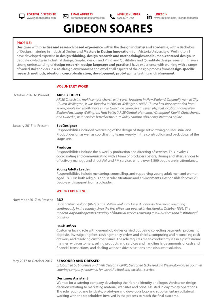 Resume — Gideon Soares