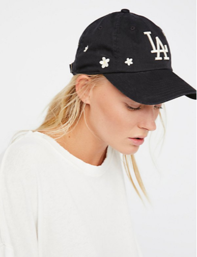 "Free People ""Daisies in the Outfield"" Baseball Cap"