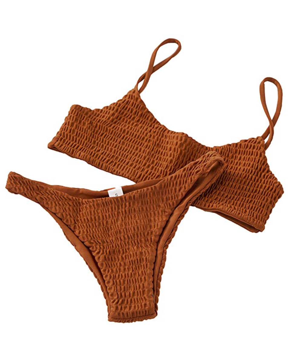Burnt Sienna Stretchy Bikini