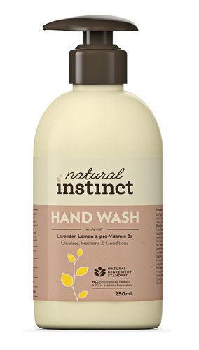 Image taken from the Beauty Heaven website, Natural Instinct Handwash, $7.95, available at Woolies, or buy it online here.