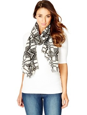 Mono Aztec Scarf $24.95, be quick its on sale right now at $14.95 from Katies, shop it here  #affiliate