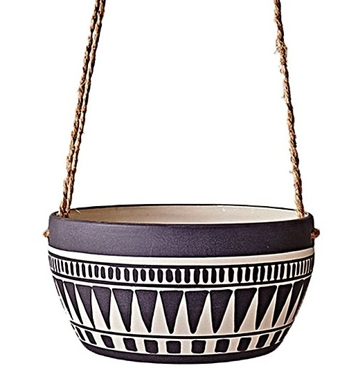 Have You Met Miss Jones Aztec Planter $49.95, a gorgeous addition to your home, plant with herbs by your kitchen door. Mint is a great herb to place by your door, the strong scent of mint helps to keep flies away.
