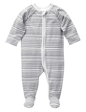 Get your sweet baby into the print aztec  coverall from Target $10, shop it here.