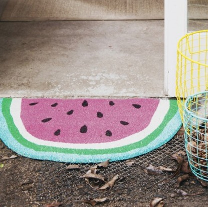 Watermelon Door Mat, $54.95 available from Lime Tree Kids. Nothing says a happy home quite like a watermelon door mat, sorry what? Yes, a watermelon door mat, can you even bare the thought. I'm sure you have a friend or family member who needs this? Gosh you would probably love it too. Go on. Hit the link to make it yours, I know you want to.