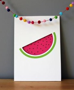 Watermelon Cut Out Print, by Muska + Elvis, $34.95 from Little Paper Lane, check it out here.