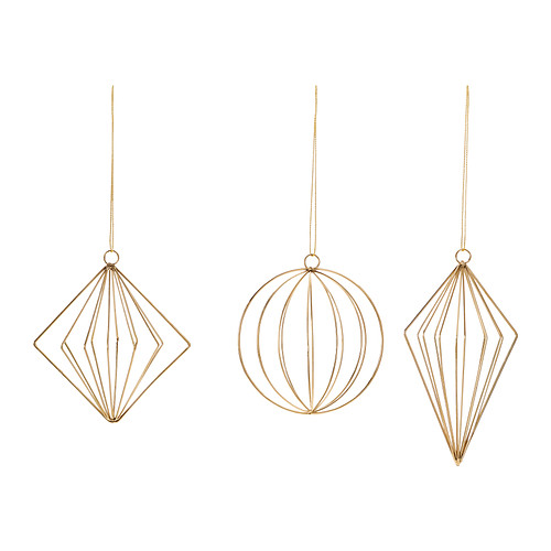 on trend gold wire ornaments :: Ikea