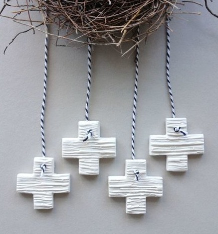Clay Mud Cross Tag :: So much to love by Mud By Nest.