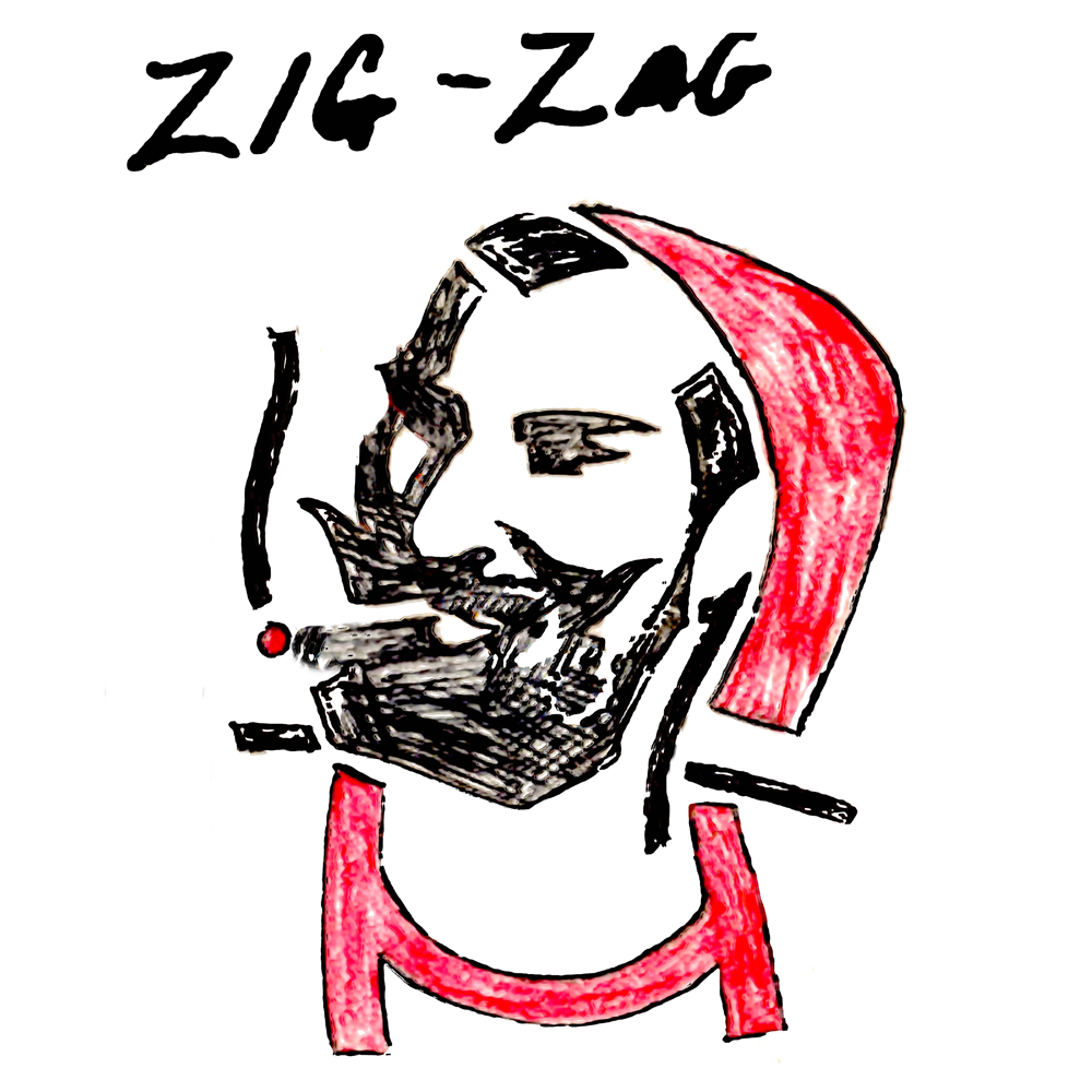 Crayon Zig Zag