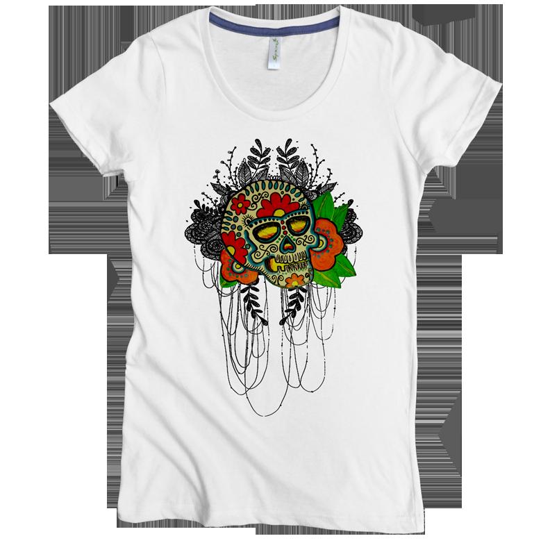 flower skull 7 W white.png