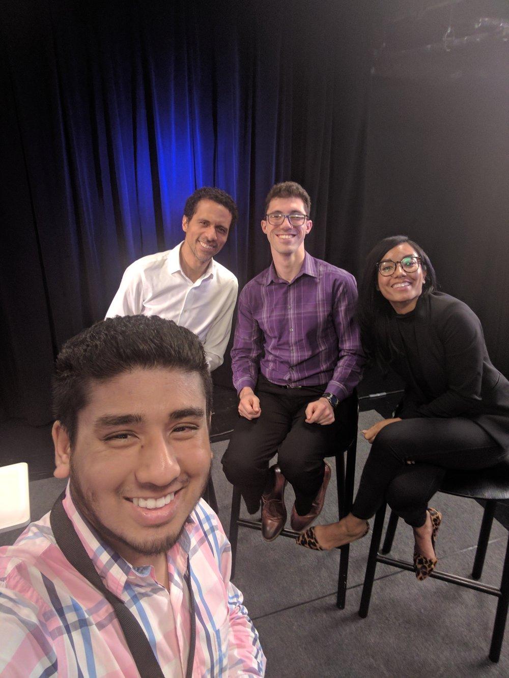 Mizanur Rahman with research scientist Sabriya Stukes  , Erich D. Jarvis , Avatil Percher