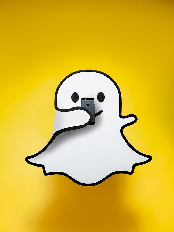 Adweek - Snapchat Ghost Taking a Selfie