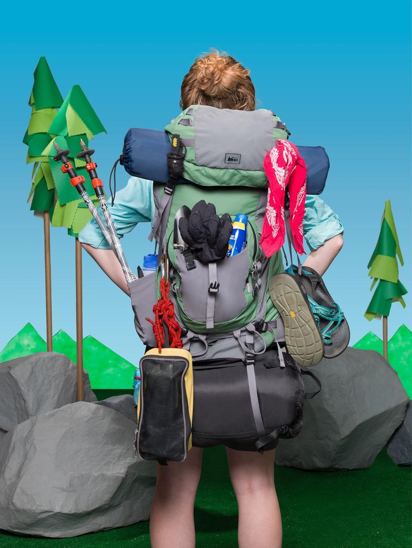 Camping 101, 2016.  Katy Nuttman, talent. Sara D'Eugenio, art direction. Zach Vitale, retouching.