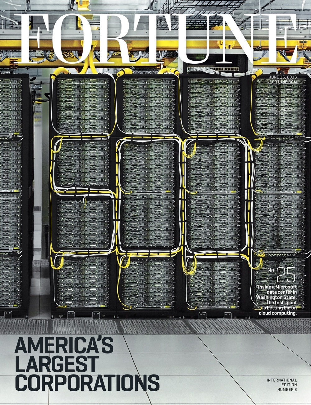 International print edition of the Fortune 500 cover. Photo by Michael Clinard for Fortune Magazine. Photo Editor, Armin Harris; Retouching, Zach Vitale.