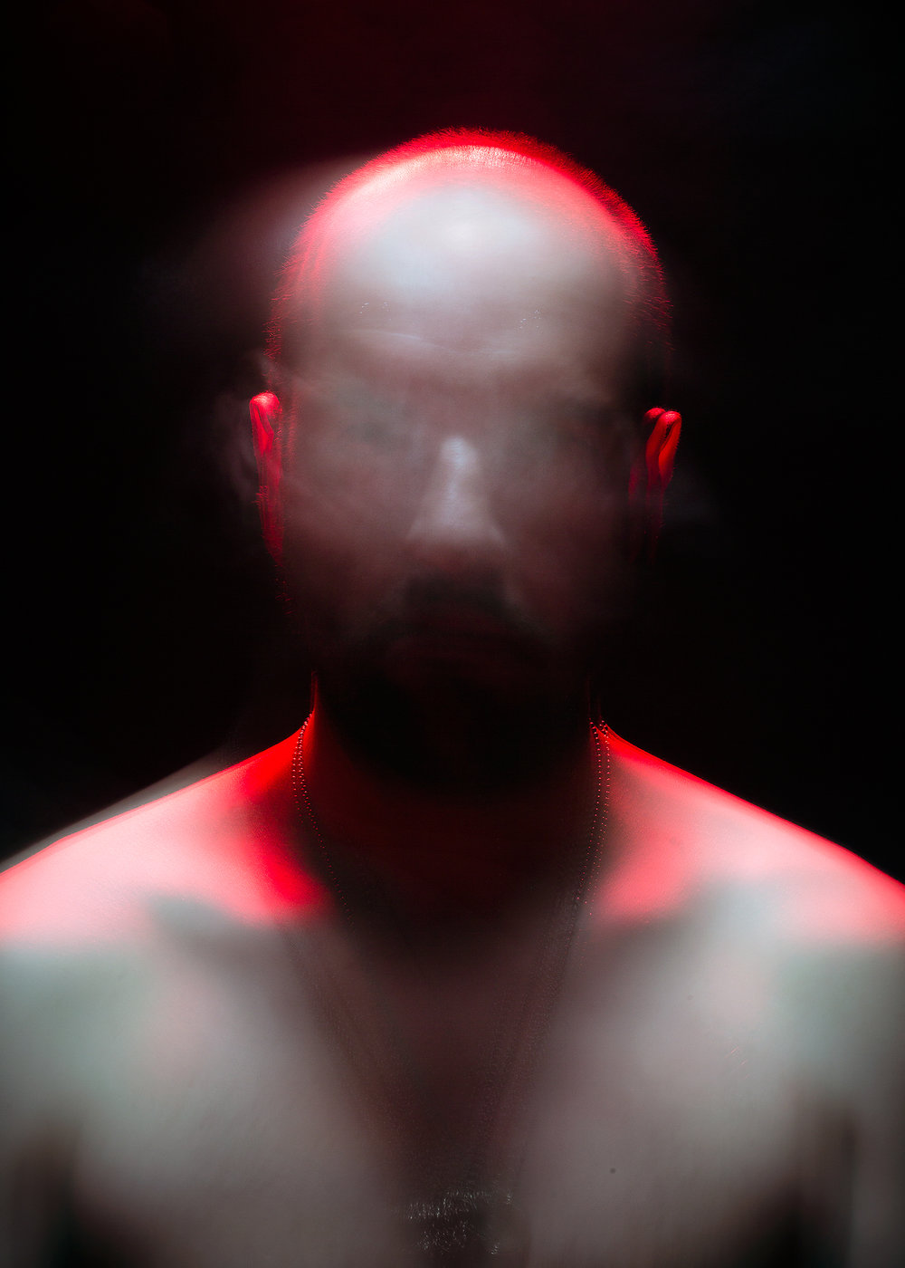 Self-portrait at 37, 2016. Long-exposure image by Michael Clinard.