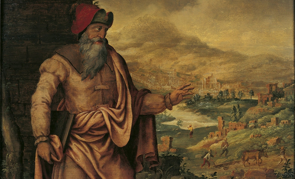 "Maarten van Heemskerck's ""The Prophet Isaiah Predicts the Return of Jews After Exile"""