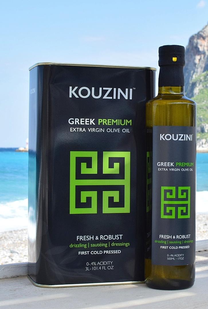 Kouzini 3L Tin and 500mL Bottle