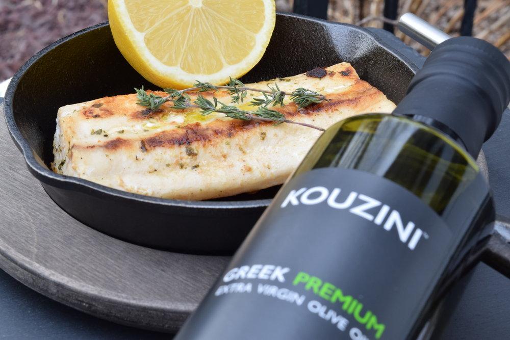Greek Extra Virgin Olive Oil and Fish fillet
