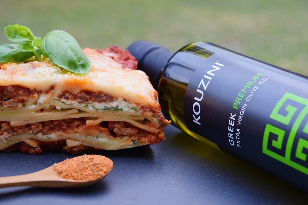 Greek Extra Virgin Olive Oil and Lasagna