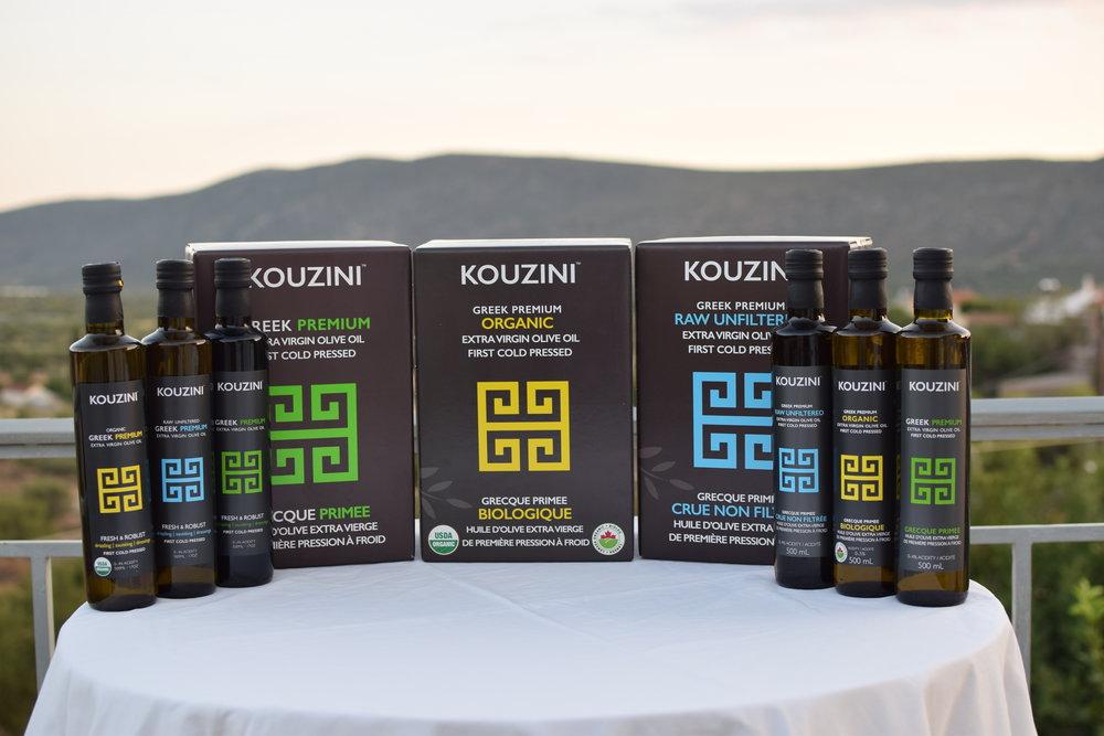 Kouzini Extra Virgin Olive Oil Family Photo