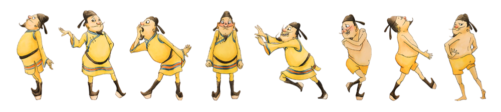 Character design for  The Emperor's New Clothes