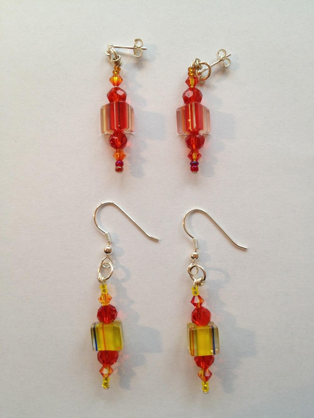 4. david christensen cane glass earrings dangle.jpg