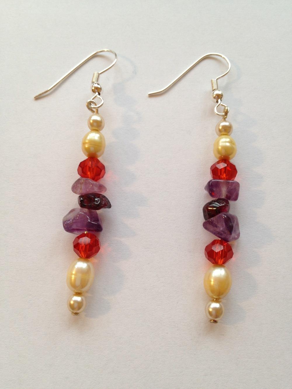 orange pearl amethyst garnet earrings dangle.jpg