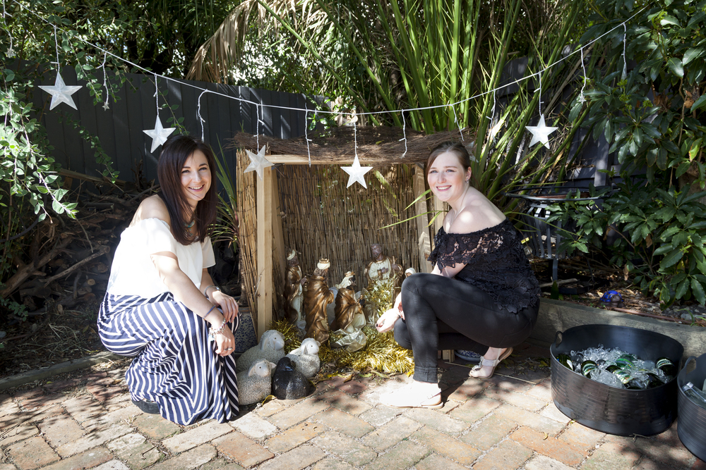 Christmas nativity scene, with my beautiful cousin Dini
