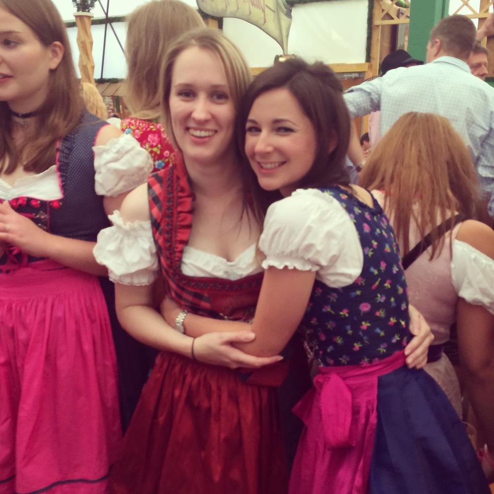 September: Dancing on tables, Oktoberfest Munich.