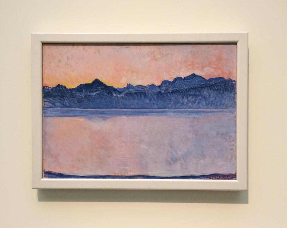 Ferdinand Holder, Genfer See mit Mont Blanc am frühen Morgen