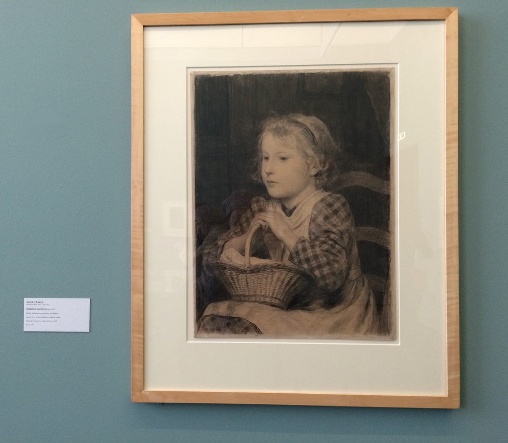 I liked this one because it reminded me of my friend Sabine (Albert Anker, Mädchen mit Korb)