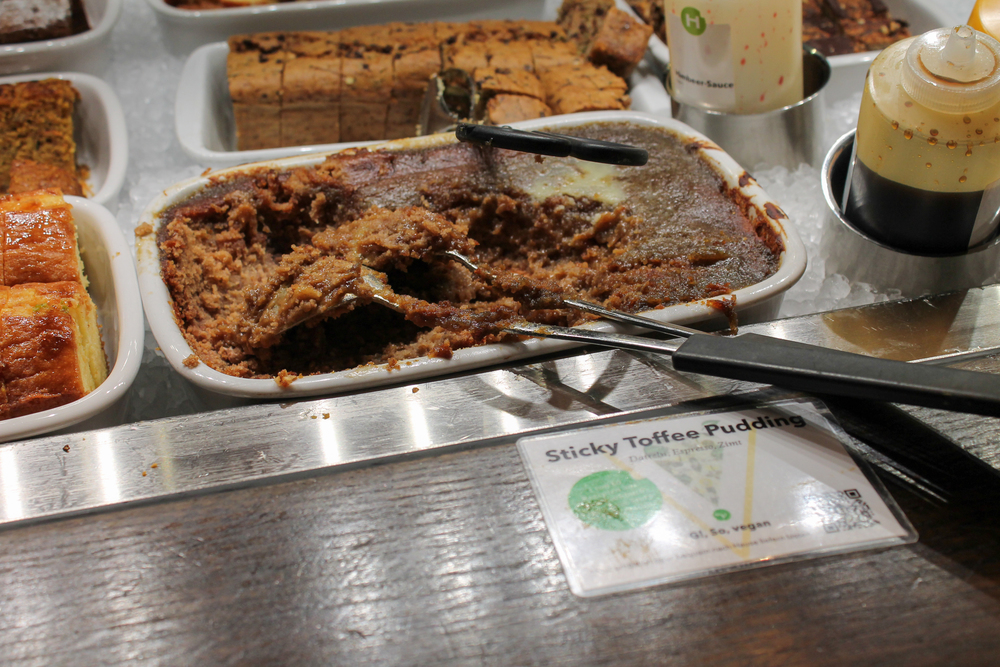 This dish is a vegan sticky pudding, and it occasioned the shrillest squeals of all