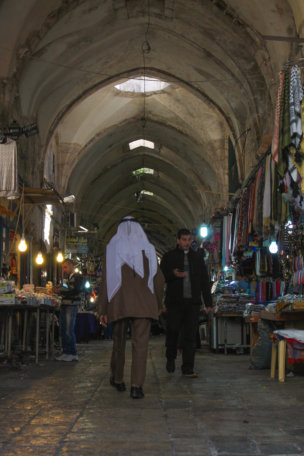 Meanwhile, 100 meters down the road in the Muslim quarter...