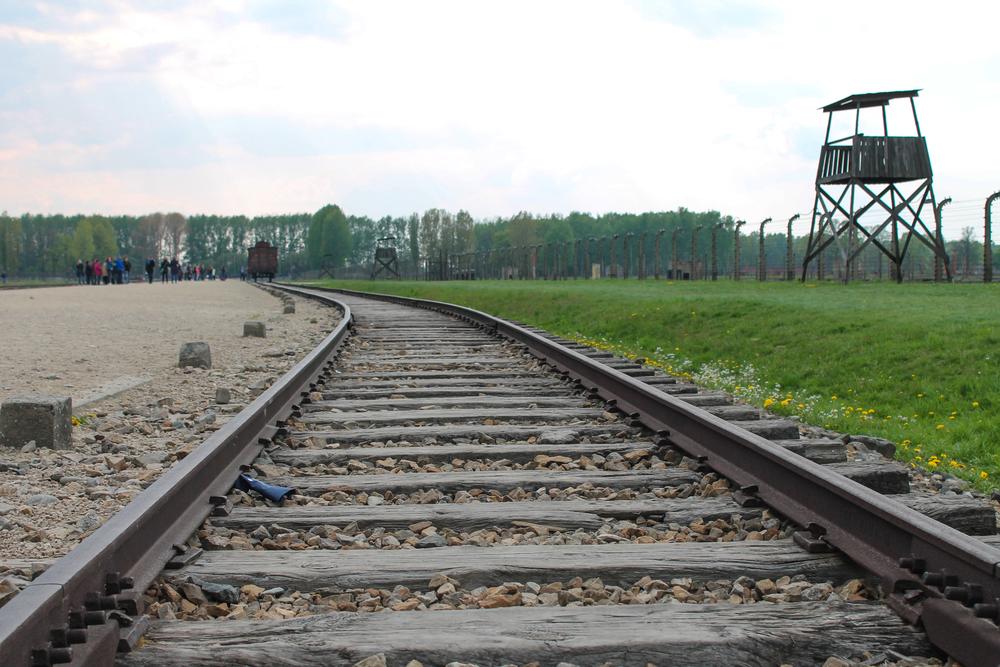 """The railway tracks at Birkenau, the """"final destination"""" for the prisoners"""