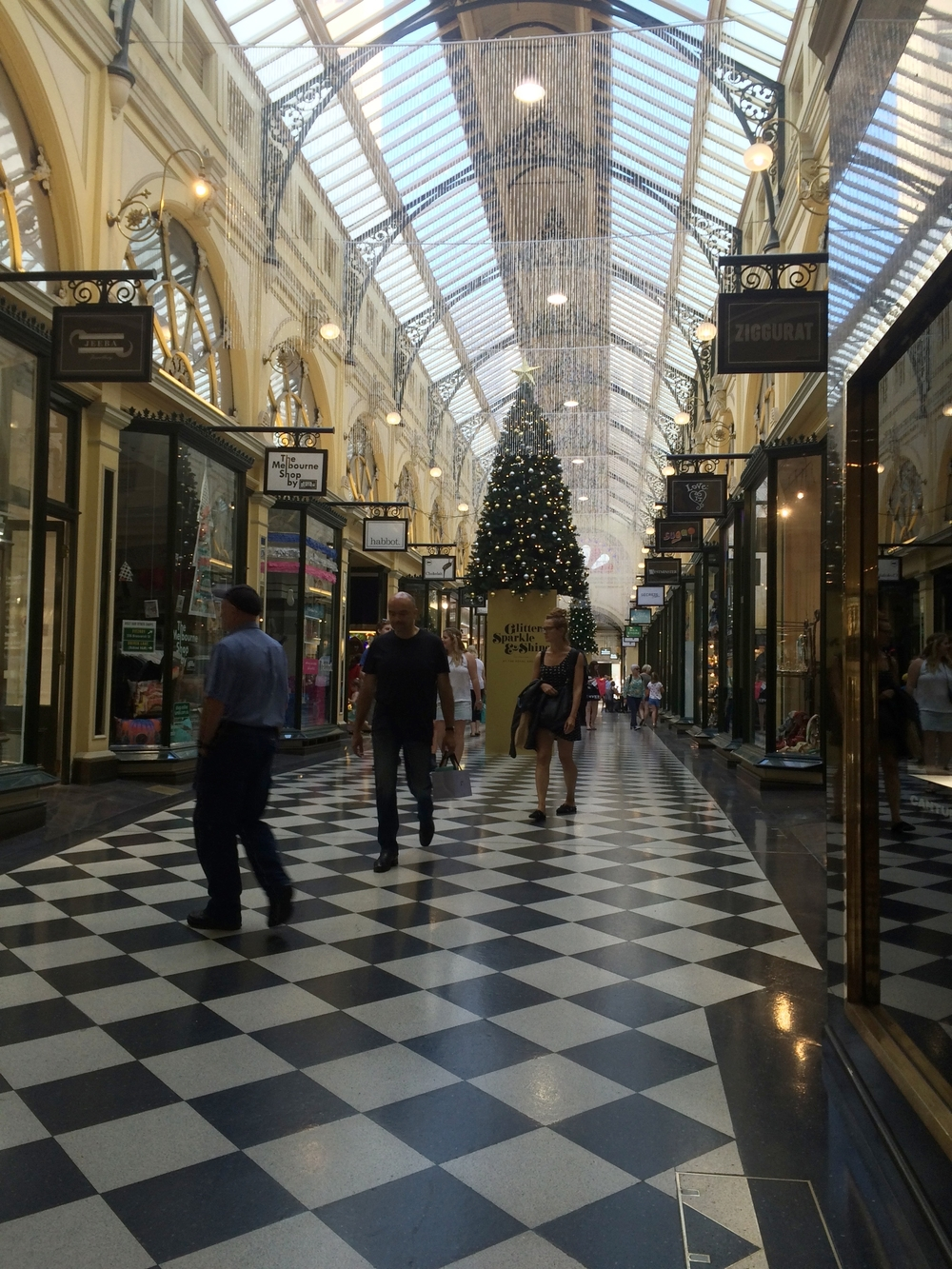 Arcade shopping in Melbourne: yup, you guessed it - open on Sundays!