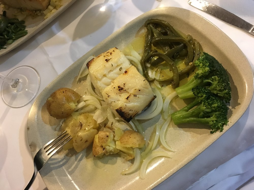 The reprisal of the seafood dinner, this time opting for the famed salted cod...