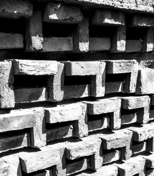 brick facade, vault house, chaukor studio