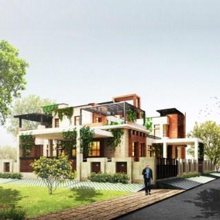 Wood House, Exterior Design Sunam, Punjab (BUA 6200sqft)