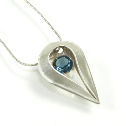 Teardrop Pendant - London Blue Topaz