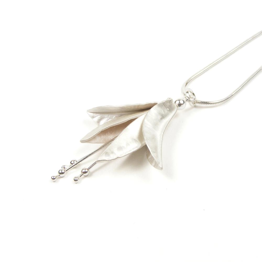 Silver Fuchsia Pendant
