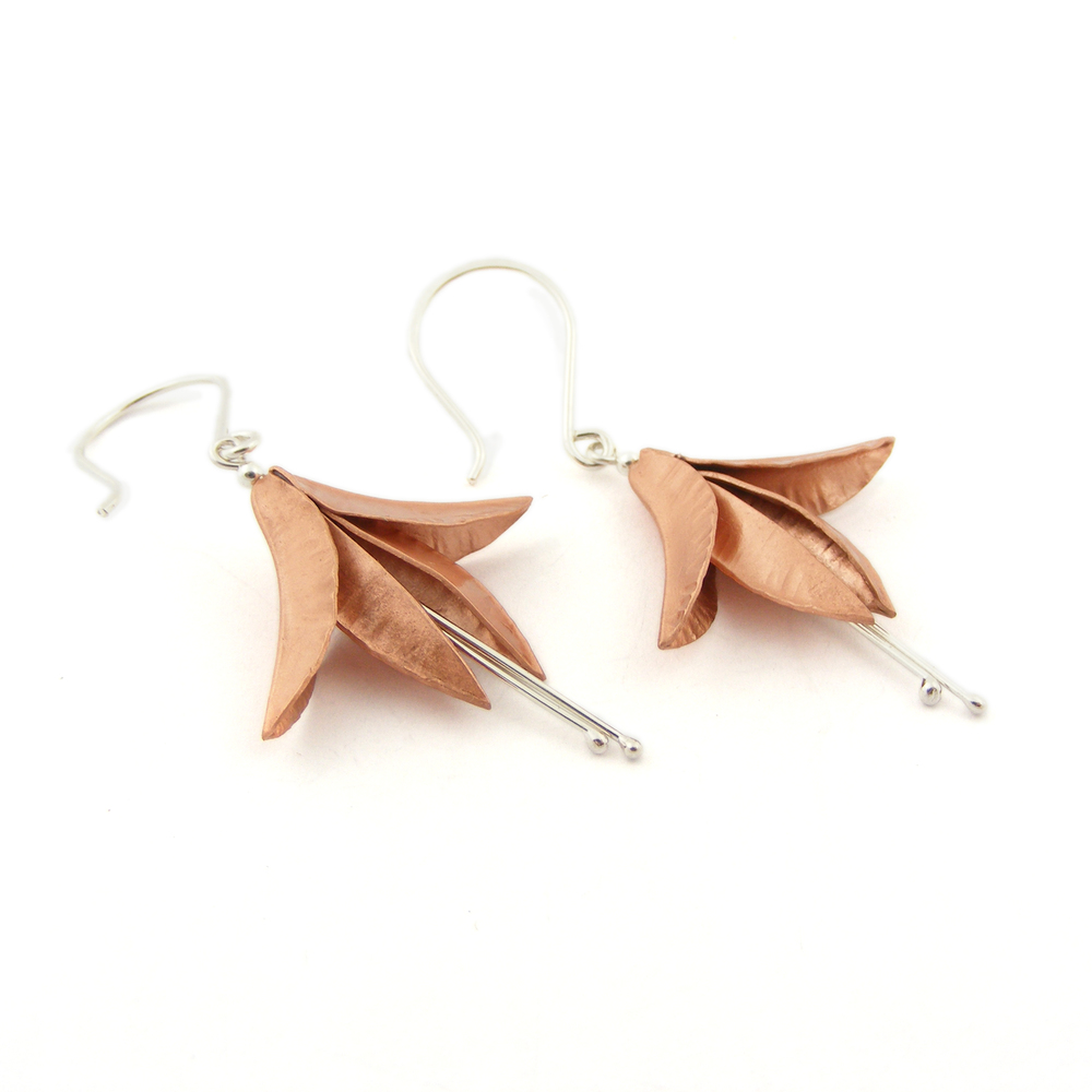 Copper Fuchsia Earrings