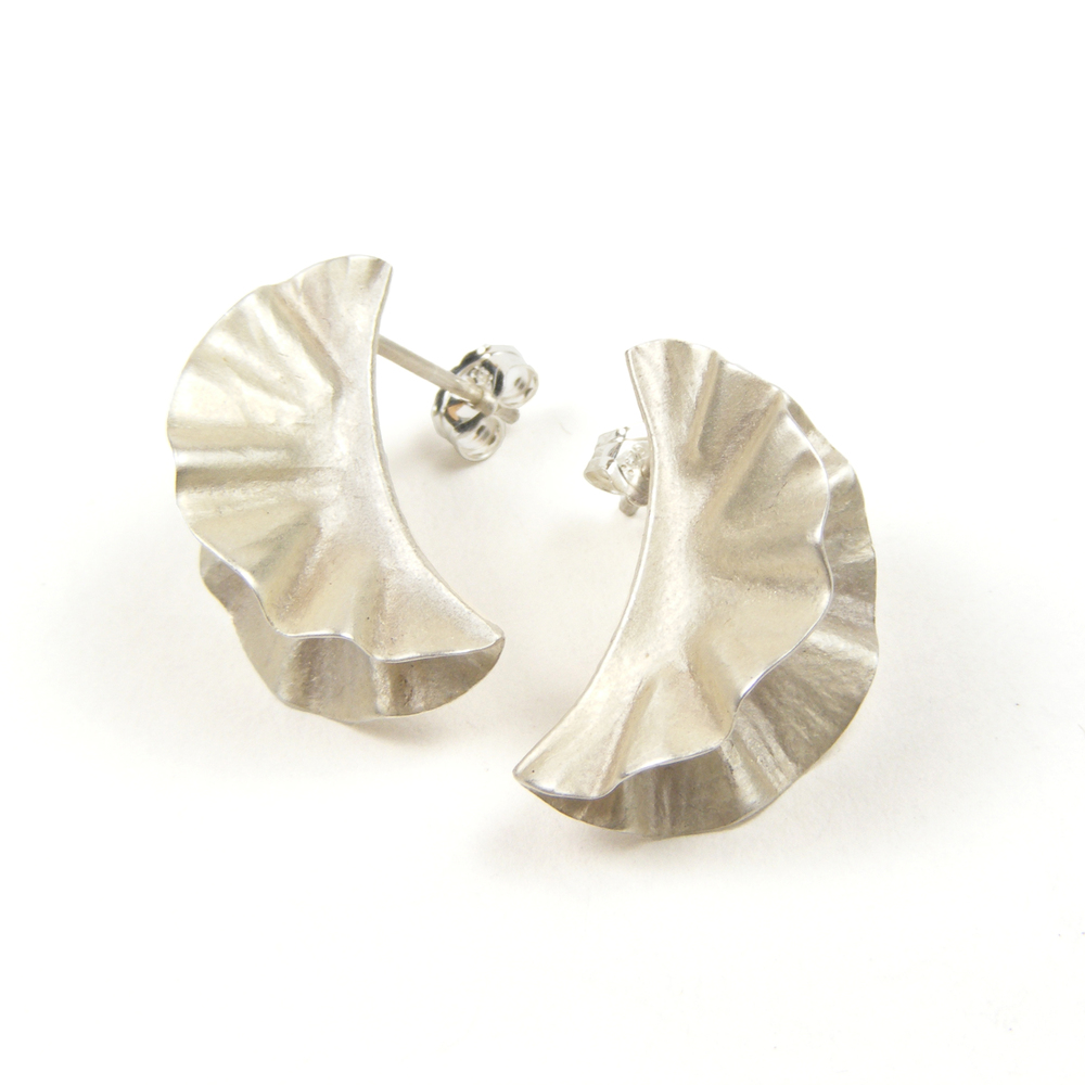 Silver Ostrea Studs