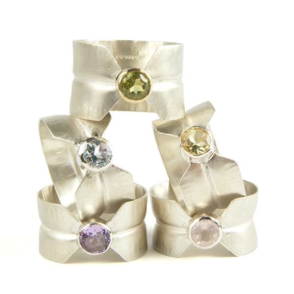 Crease Rings - Gem Set