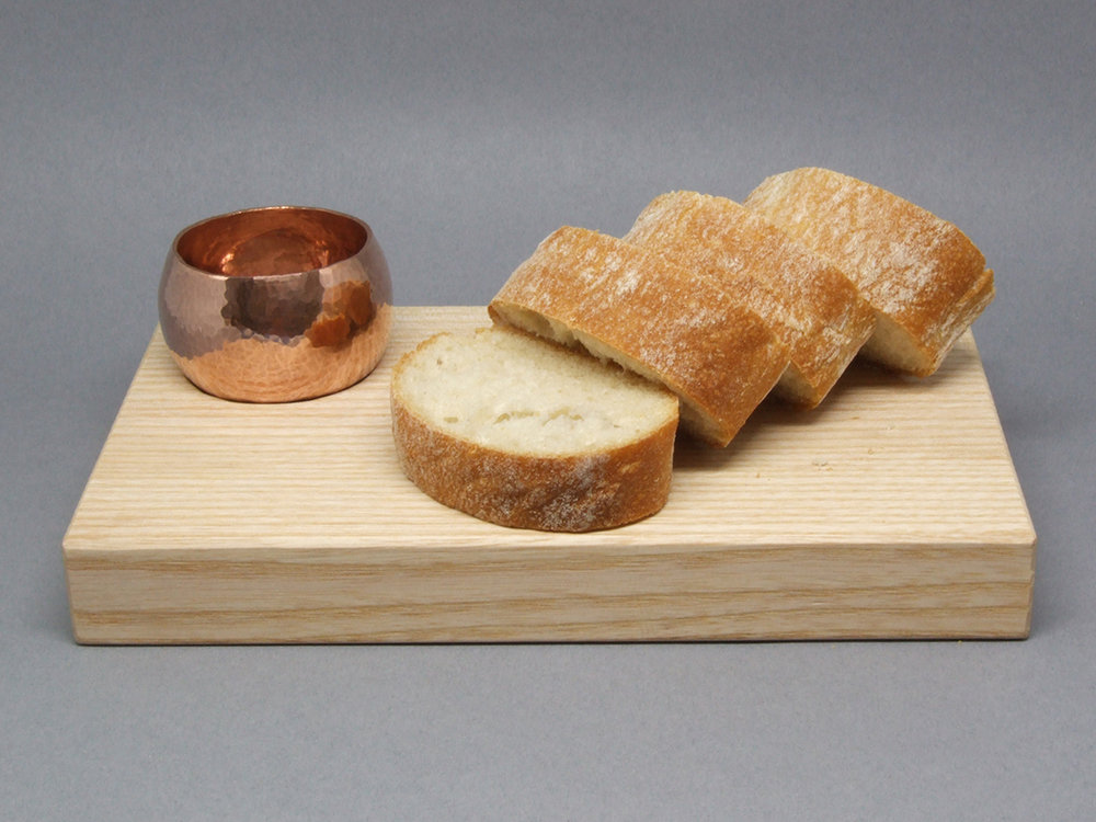 Copper Dipping Bowl & Board