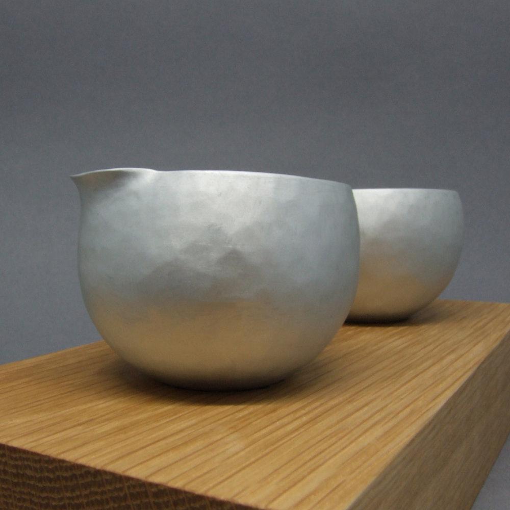 Aluminium Small Bowl & Jug