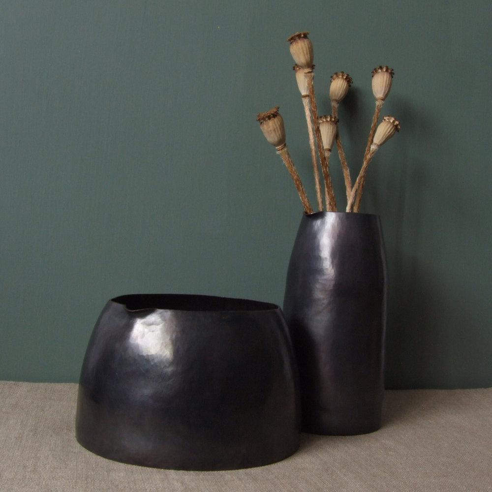 Pout Vessels - Oxidised Copper