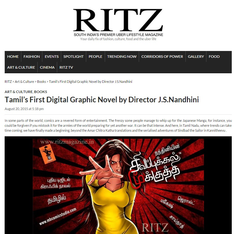 ritz magazine comic book