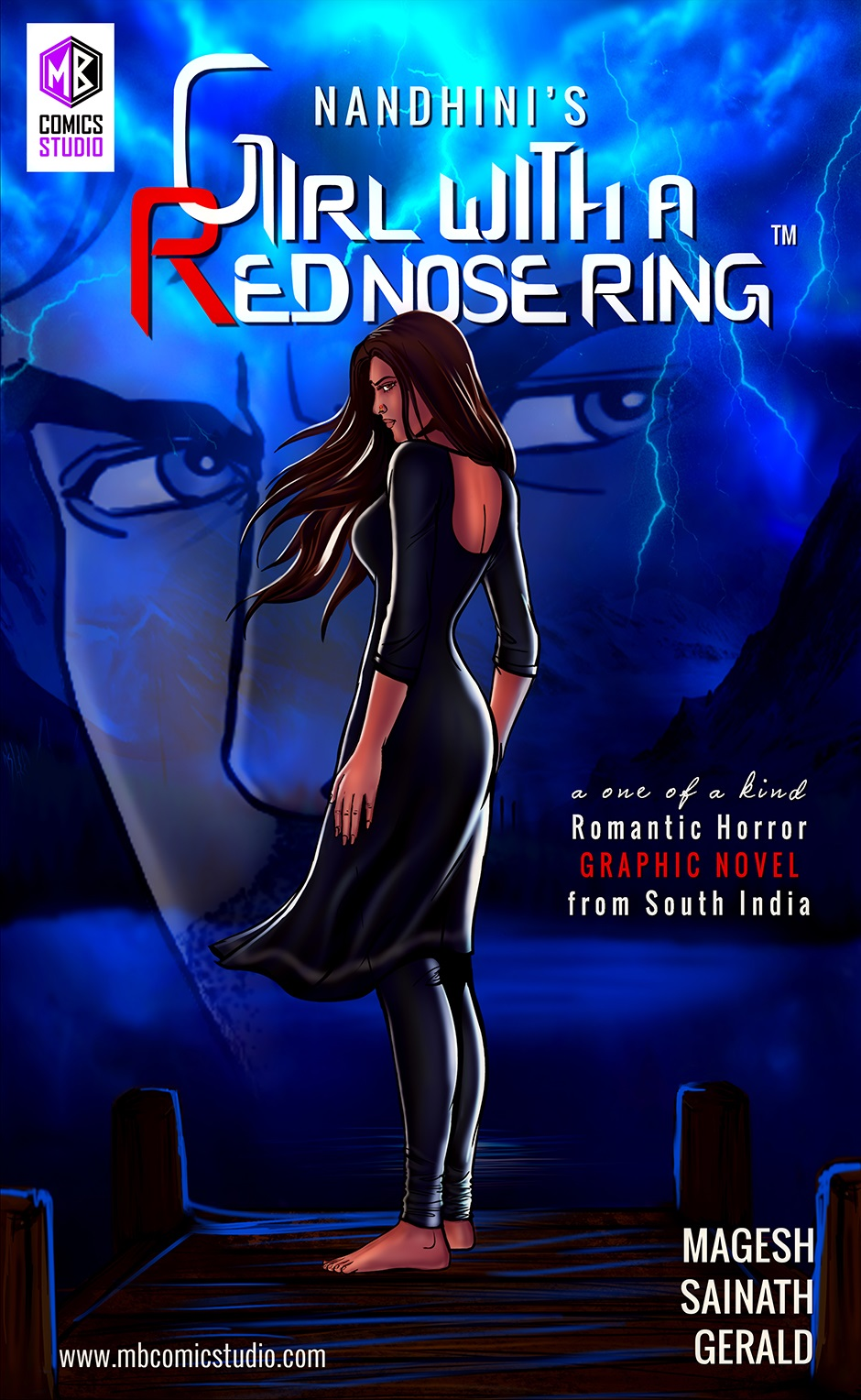 Cover-Girl-with-a-red-nose-ring Comics India
