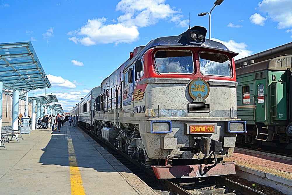Cross country express at Ulan Bataar, central Mongolia. Photo by Tony Richards.